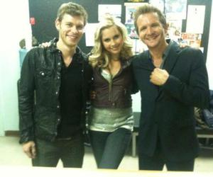 claire holt, joseph morgan, and the vampire diaries image