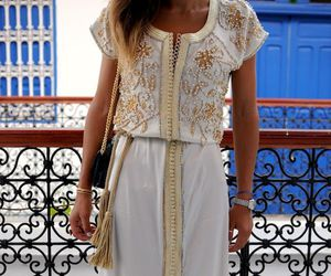 dress, white, and caftan image