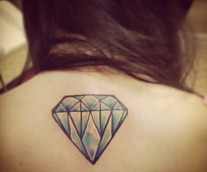 back, blue, and diamonds image