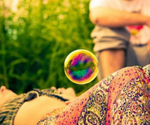 bubbles and hippie image