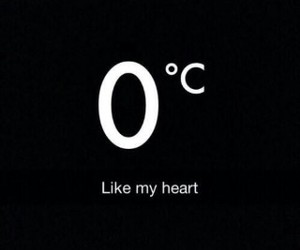 heart, cold, and black image