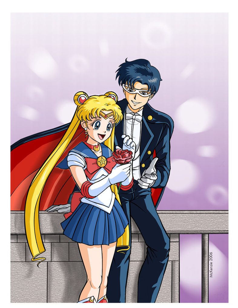 Sailor Moon And Tuxedo Mask By Redshoulder On Deviantart