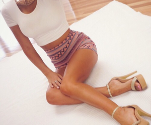 blouse, clothe, and heels image