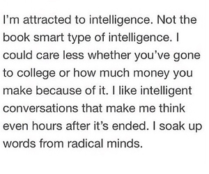 college, intelligence, and quote image