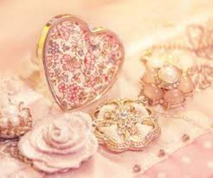 flower, heart, and rose image