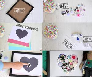 heart, pins, and diy image