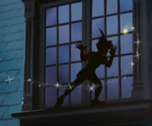 peter pan, disney, and tinkerbell image