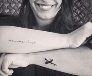 plane, tattoo, and wanderlust image