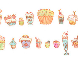 drawing, cupcake, and food image