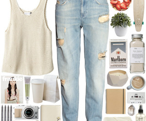 girl, jeans, and outfit image