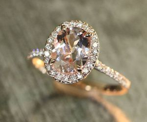 engagement, rings, and oval shaped image