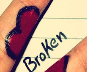 broken and heart image