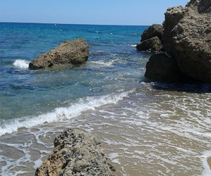 beach, catalonia, and summer image