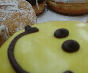donut, smile, and yummy image