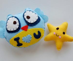 felt, owl, and cute image