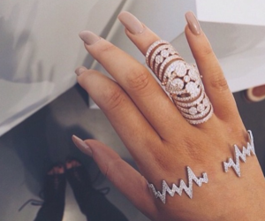 nails, ring, and jewelry image