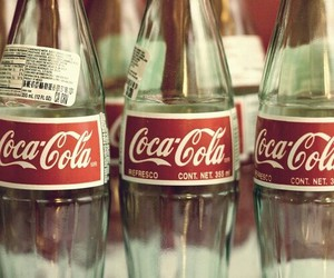 coca cola, vintage, and bottle image