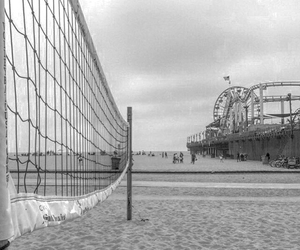 b&w, black and white, and volleyball image