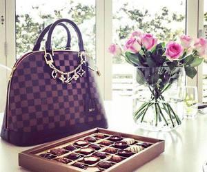 bag, chocolates, and girls image