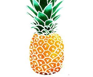 pineapple, art, and summer image