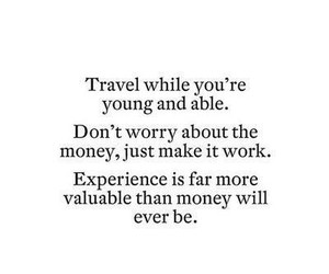 travel, money, and quote image