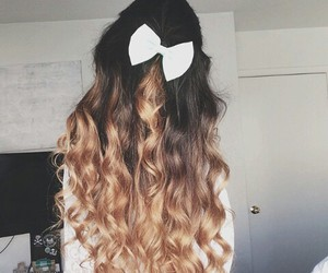 black, bow, and hairstyle image