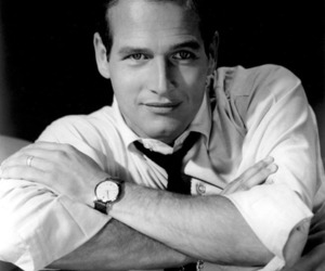black and white, paul newman, and portrait image