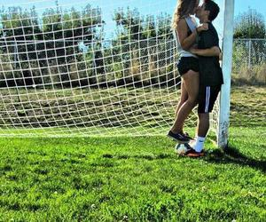 kiss, soccer, and relationship goals image