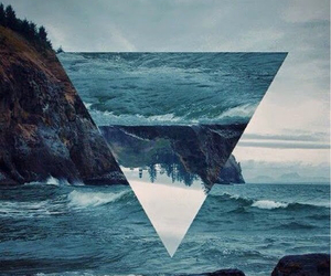 sea, triangle, and ocean image