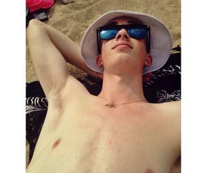 beach, Hot, and boy image