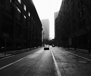 black and white, china, and city image