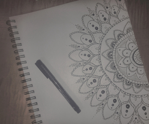 artsy, doodles, and notebook image