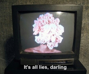 grunge, lies, and flowers image