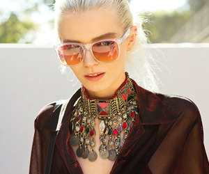 Abbey Lee Kershaw, sunglasses, and blonde image
