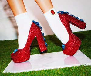 crystal, glitter, and highheel image