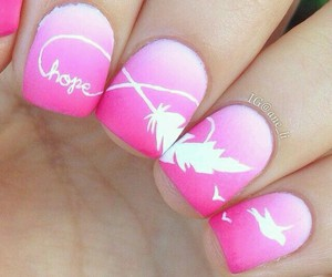 nails, pink, and hope image