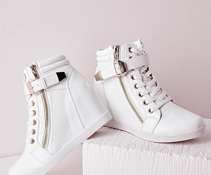 shoes, wedges, and white image