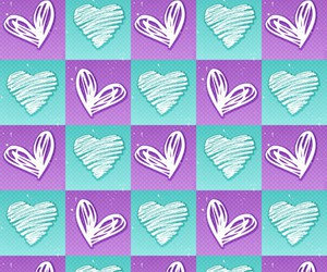 hearts, blue, and purple image