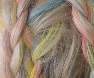 colors, hair, and pastel image