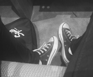 b&w, church, and converse image