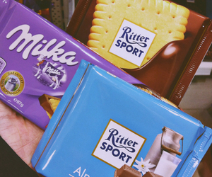 chocolate, milka, and rittersport image