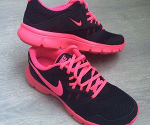 black, pink, and gym image