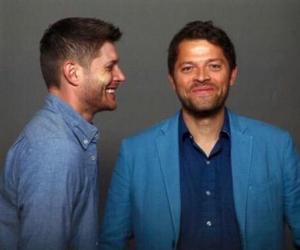 misha collins, supernatural, and Jensen Ackles image