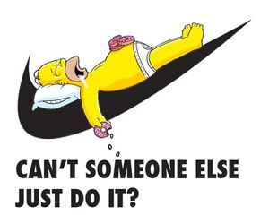 nike, simpsons, and homer image