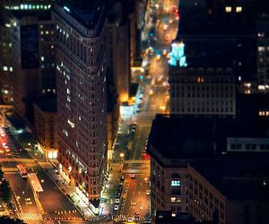 new york, lights, and city image