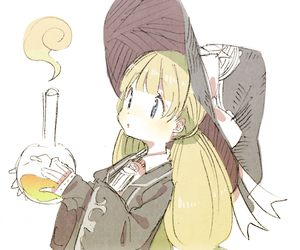 anime, bow, and witch image