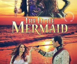 once upon a time, poster, and the little mermaid image