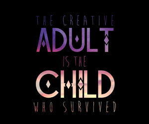 Adult, art, and child image