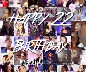 22, happy birthday, and ariana grande image