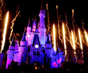 disney, castle, and firework image